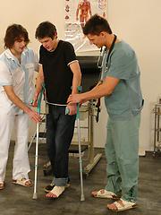 Yuri, Rado and Mirek - midical examination, Added: 2012-07-05 by William Higgins