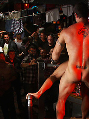 Horny men attack a go-go boy at the Powerhouse bar, Added: 2011-09-06 by Bound in Public